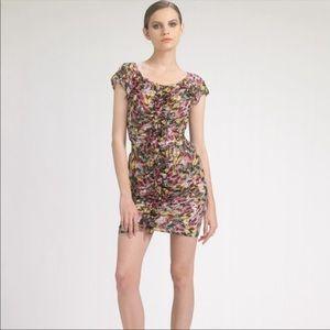 Leifsdottir Feather Fiesta Silk Ruffle Dress